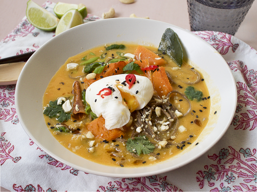 thaicurry with butternut pumpkin