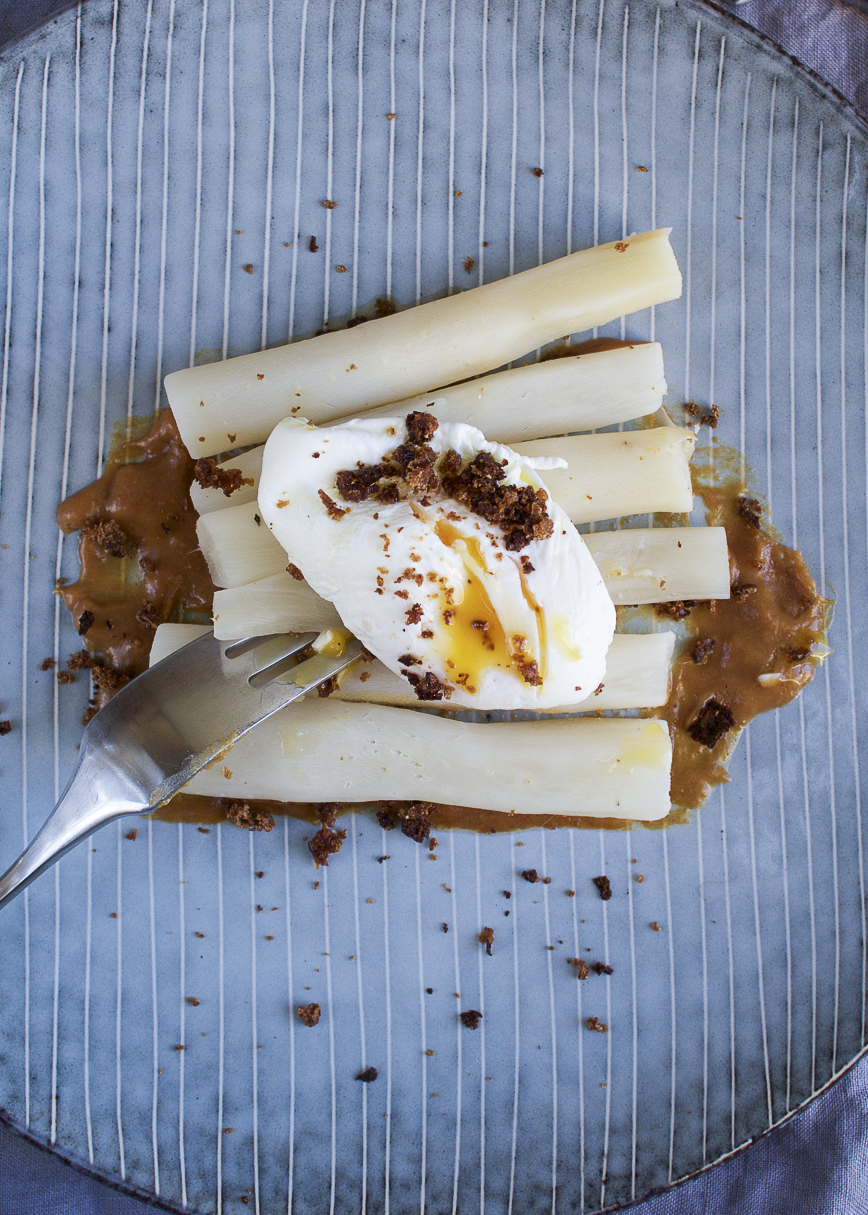 Salsify w/ David Chang's miso butter and poached egg