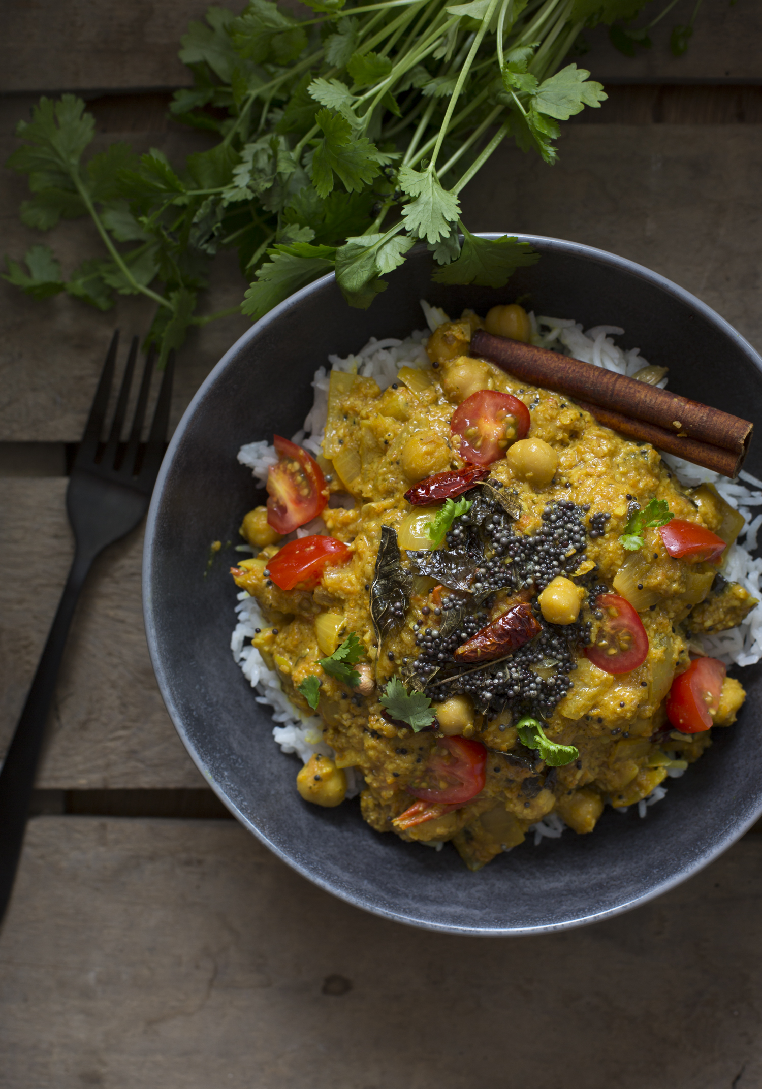 Keralan chickpea curry