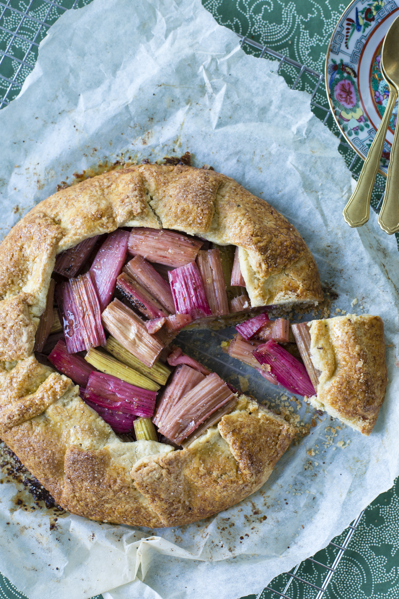 Rhubarb galette is easy to make and looks rustic