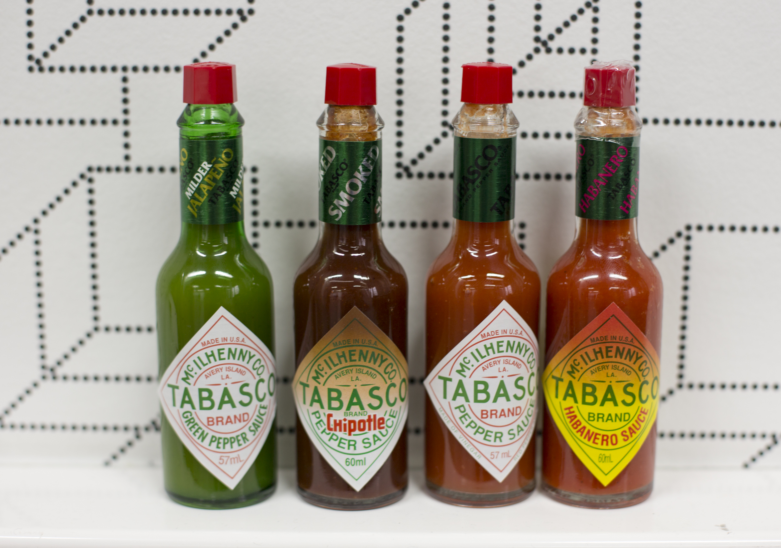 Different kind of Tabasco sauces