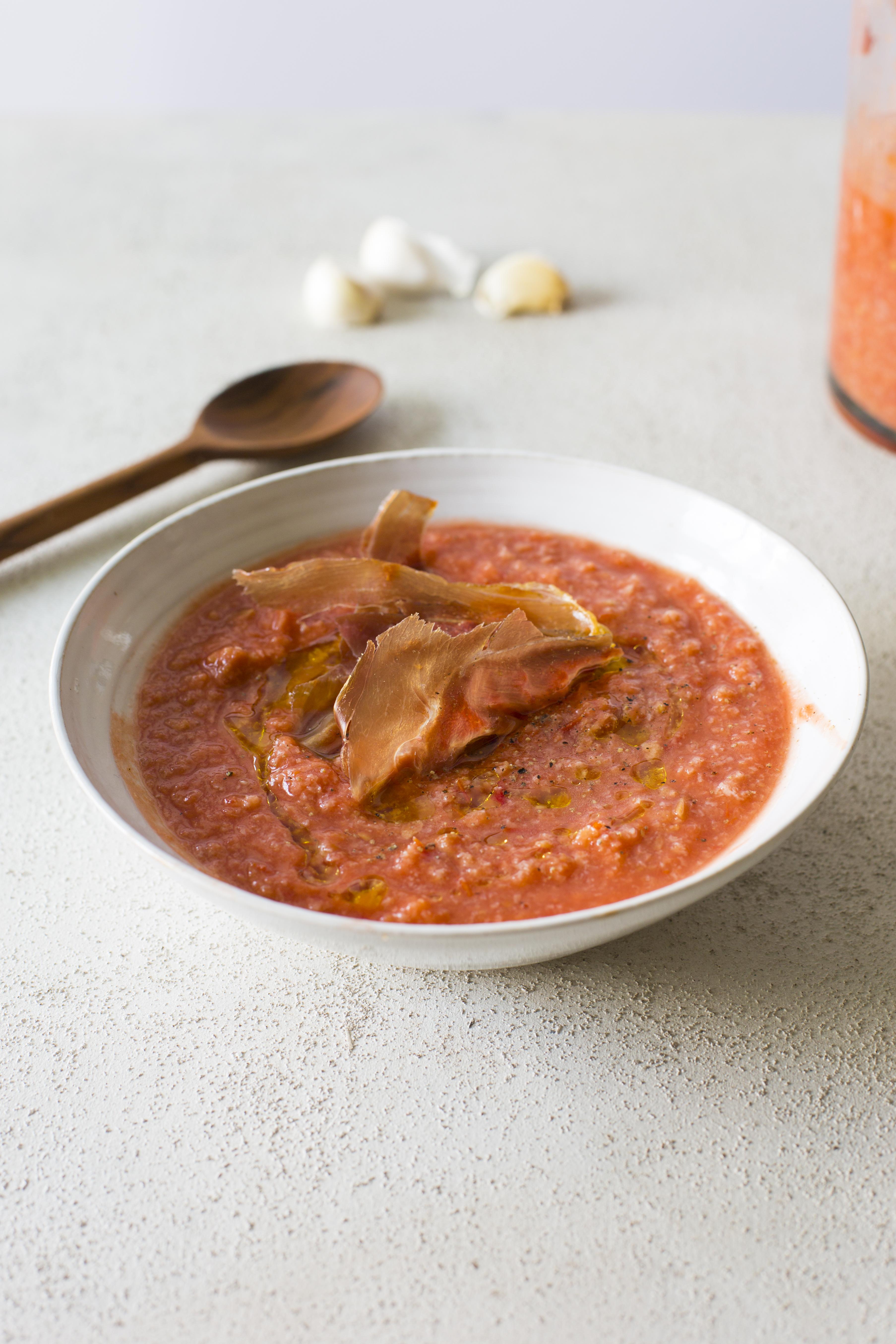 Andalucian tomato soup, salmorejo