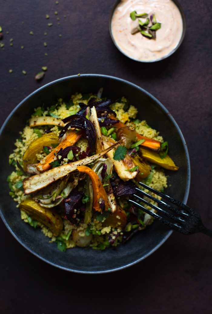 Root vegetable couscous