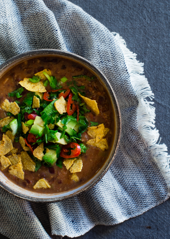 Mexican bean soup is perfect winter food