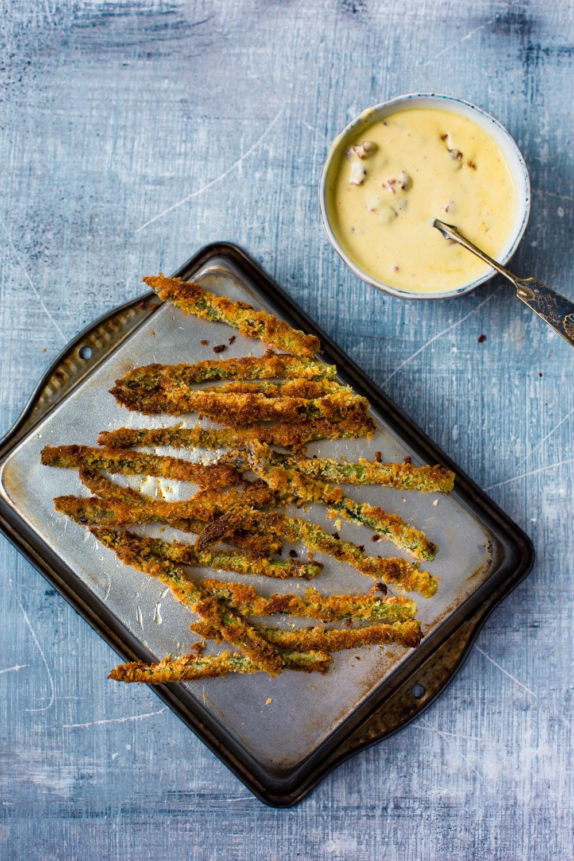 Asparagus fries and baconnaise