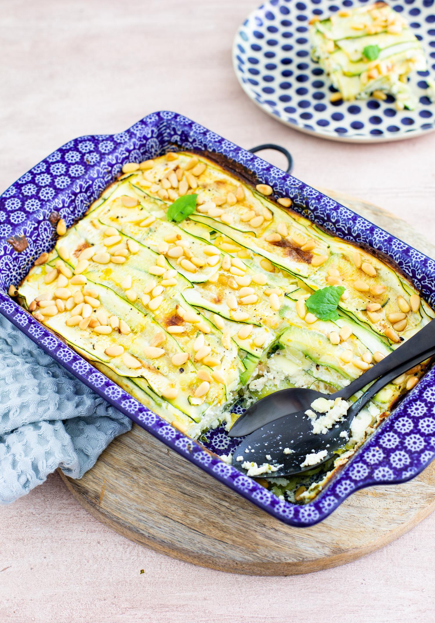 Zucchini and ricotta bake