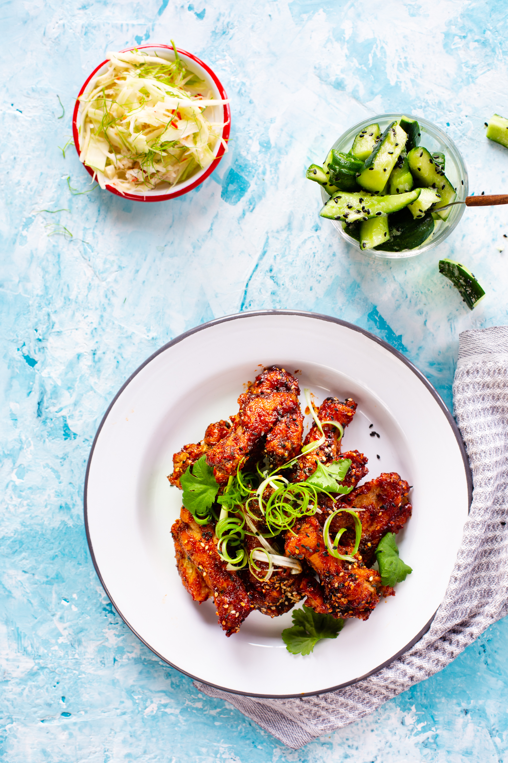 Deep-fried Sweet and Spicy Chicken Wings