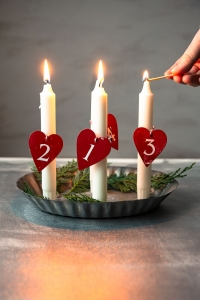 Three candles for Advent