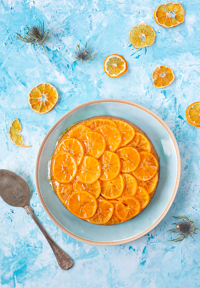 Moist clementine cake suits well for Christmas
