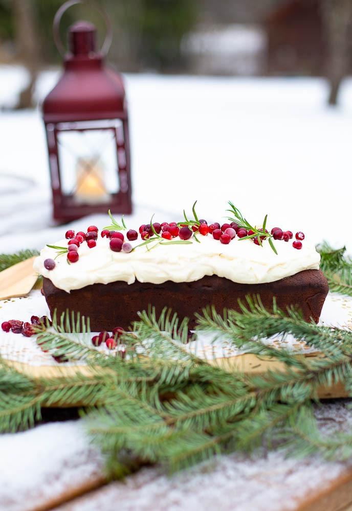 Cranberry and port wine spice cake