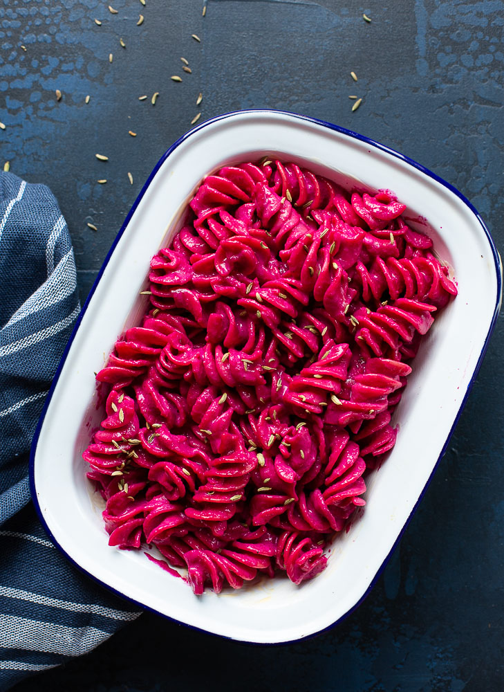 Beetroot mac'n'cheese