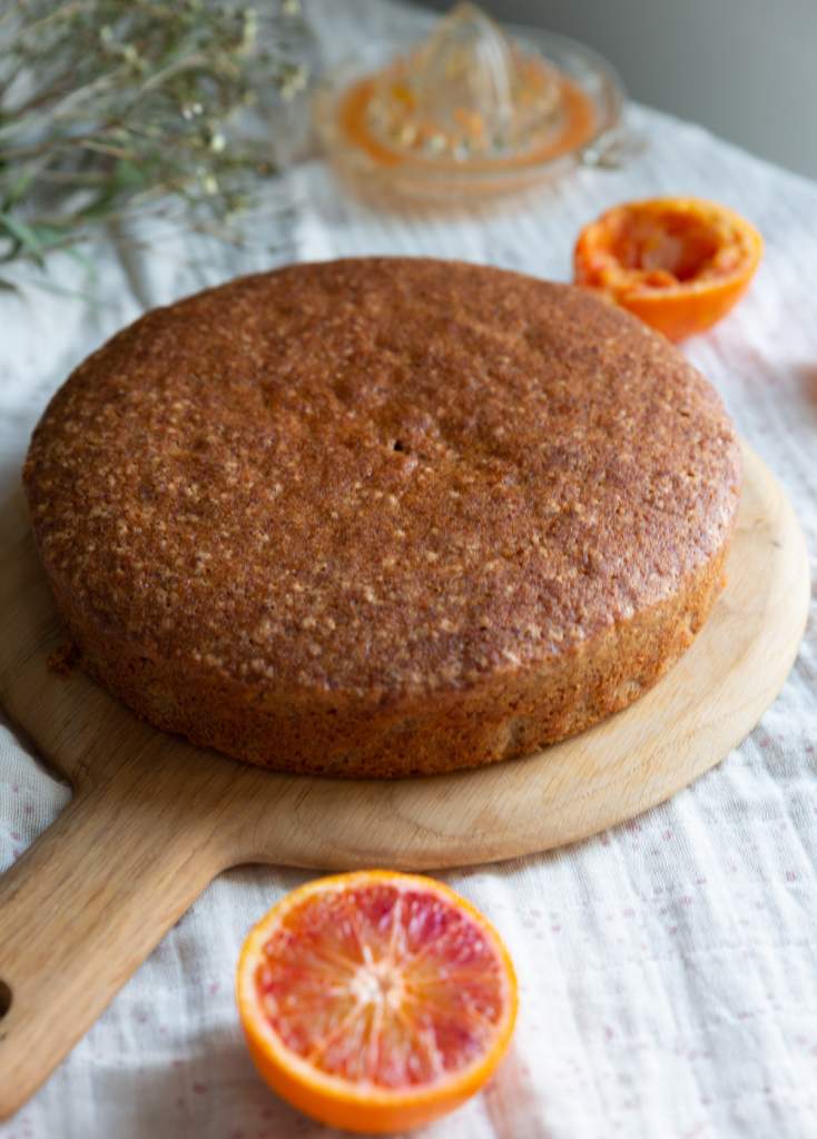Gluten free blood orange cake